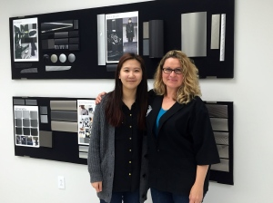 Intern Sophia Park in the Alutrim Design Studio Studio