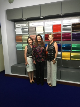 CCS team in the studio with Nancy Lockhart Color Marketing Manager