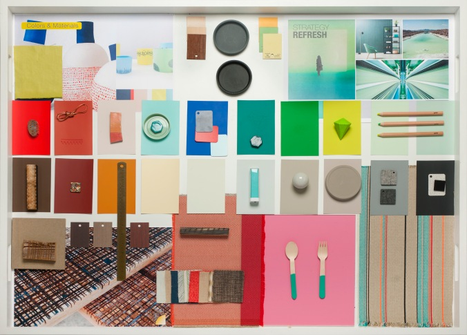 Color and Materials Palettes -  Elements of the Final Presentation