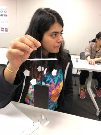 IxD Student Khyati Shah with a mobile